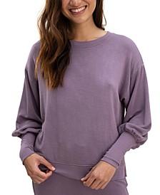 Flora Flounce Pullover Sweatshirt