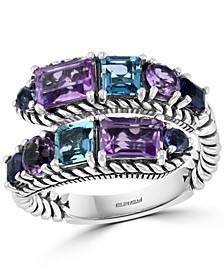 EFFY® Multi-Gemstone Wrap Ring (4-1/5 ct. t.w.) in Sterling Silver