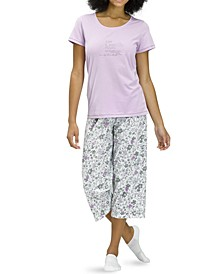 Live A Life Filled With Love Capri Pajama Set