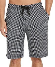Men's Gingham Check Pajama Shorts