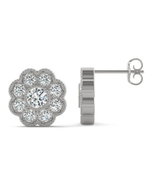 Moissanite Floral Stud Earrings 3/4 ct. t.w. Diamond Equivalent in 14k Gold
