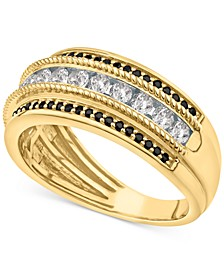Men's Black Diamond (1/4 ct. t.w.) & White Diamond (3/4 ct. t.w.) Ring in 10k Gold