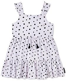 Baby Girls Crepe Polka-Dot Dress