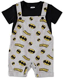 Baby Boys 2-Pc. Batman Shortall Set