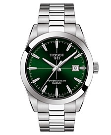 Men's Swiss Automatic Gentleman Powermatic 80 Silicium Stainless Steel Bracelet Watch 40mm