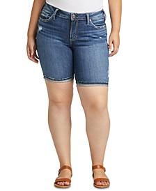 Plus Size Suki Curvy-Fit Jean Shorts