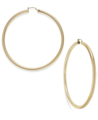 Signature Gold 80mm Hoop Earrings in 14k Gold over Resin