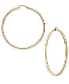 Signature Gold™ 80mm Hoop Earrings in 14k Gold over Resin