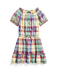 Toddler Girls Tiered Madras Dress