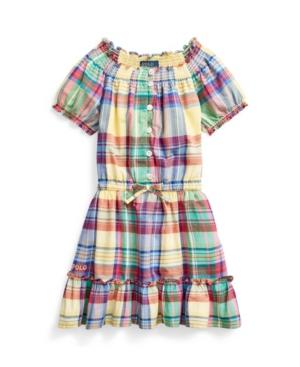 Polo Ralph Lauren Dresses LITTLE GIRLS TIERED MADRAS DRESS