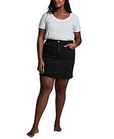 Trendy Plus Size Denim Mini Skirt