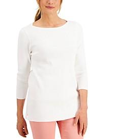 3/4-Sleeve Ribbed Tunic, Created for Macy's