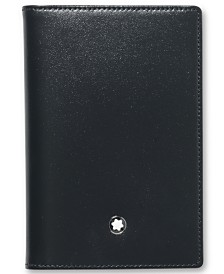 Montblanc Men's Black Leather Meisterstück Business Card Holder 14108