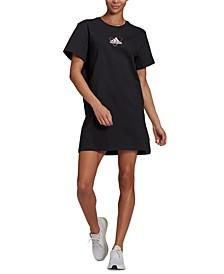 Women's Cotton Logo T-Shirt Dress