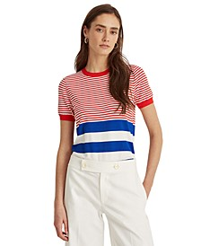 Petite Striped Summer Sweater