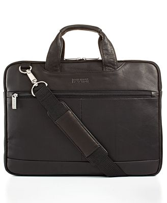 Kenneth Cole Reaction Double-Sided Leather Laptop Briefcase