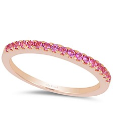 Bubble Gum Pink Sapphire Stack Band (1/4 ct. t.w.) in 14k Rose Gold
