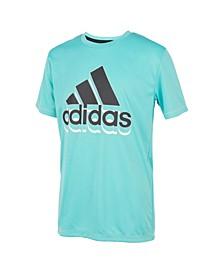 Little Boys Short Sleeve Aero Ready Shadow Badge Of Sport T-shirt