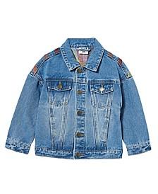 Little Girls Emmy Oversized Denim Jacket