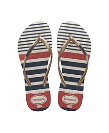 Women's Slim Nautical Flip Flop Sandals