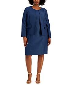 Plus Size Printed Dress Suit
