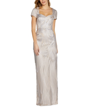 Adrianna Papell SOUTACHE GOWN