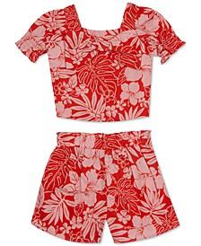 Baby Girls 2-Pc. Floral-Print Top & Shorts Set