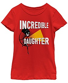 Big Girls Incredibles 2 Incredi Daughter Short Sleeve T-shirt
