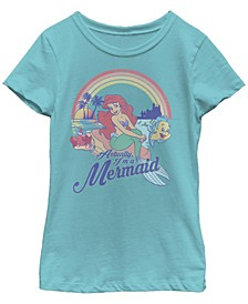 Big Girls Disney Princesses Actual Mermaid Short Sleeve T-shirt