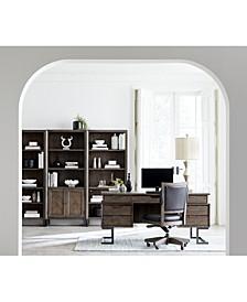 Gidian Home Office, 5-Pc. Set (Executive Desk, Office Chair, Open Bookcase, Open Bookcase, Door Bookcase)