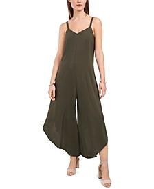 Just Hanging Asymmetrical-Hem Cropped Jumpsuit