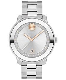 Women's Swiss Bold Verso Stainless Steel Bracelet Watch 38mm