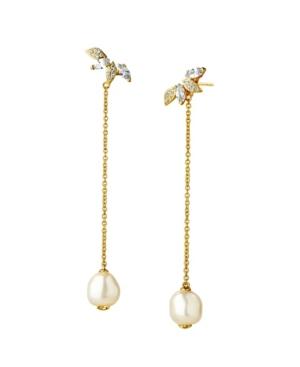 Imitation Pearl Front Back Earrings