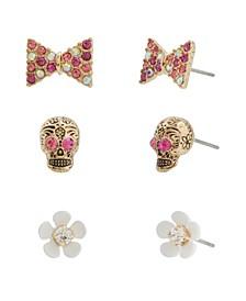 Skull Stud Earrings Set