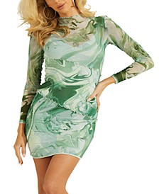 Nadine Sheer Printed Bodycon Dress