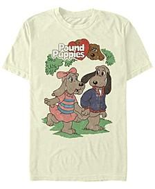 Men's Puppy Couple Short Sleeve Crew T-shirt