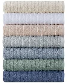 Clean Color Cotton Pyramid Jacquard Bath Towel Collection