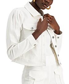 INC Volume-Sleeve Denim Jacket, Created for Macy's
