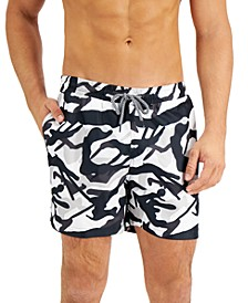"""INC Men's Regular-Fit Quick-Dry Camouflage-Print 5"""" Swim Trunks, Created for Macy's"""