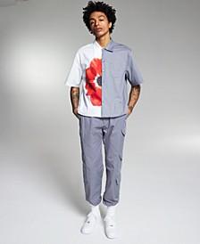 Allen Onyia Men's Regular-Fit Stretch Poplin Cargo Pants, Created for Macy's