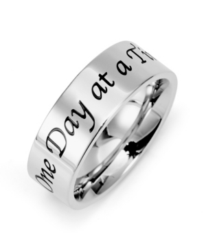 Men's One Day at a Time Stainless Steel Message Ring