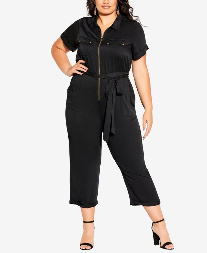 City Chic Plus Size Boiler Suit Jumpsuit & Reviews - Pants & Capris - Plus Sizes - Macy's