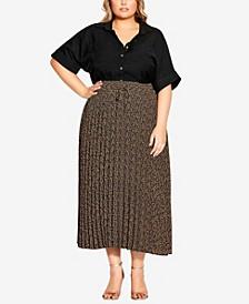 Plus Size Baby Leopard Skirt