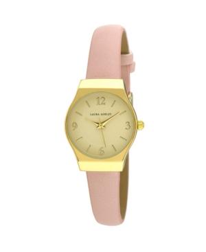 Women's Off Center Round Skin Pink Polyurethane Strap Watch 25mm