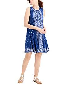Mixed-Print Sleeveless Flip-Flop Dress, Created for Macy's