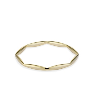 Octagon Geo Ring in Fine Yellow Gold Plate