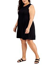 Plus Size Sleeveless Swing Dress, Created for Macy's