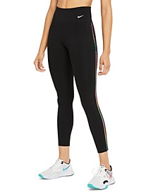 Women's Dri-FIT Rainbow-Stripe Leggings
