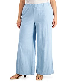 Plus Size Wide-Leg Ankle Pants, Created for Macy's