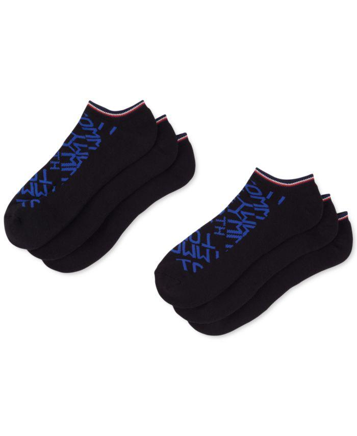 Tommy Hilfiger Men's 6-Pk. Logo Athletic No-Show Socks & Reviews - Underwear & Socks - Men - Macy's